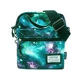 Artone Green Universe Galaxy Casual Crossbody Bag Campus Shoulder Bag Fit iPad