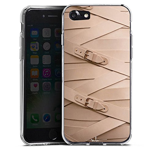 Apple iPhone X Silikon Hülle Case Schutzhülle Schnalle Leder Mode Silikon Case transparent
