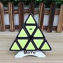 MoYu Pyraminx velocidad Puzzle Cubo Cubo magico triangulo piramide velocidad giro de Puzzle Toy + uno personalizado trípode (negro)