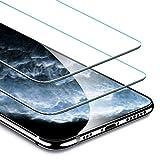 ESR Display Schutzfolie kompatibel mit iPhone 11 Pro/XS/X [2 Stück] [Face-ID kompatibel] [Hüllenfreundlich] - Hochwertiger Panzerglas Displayschutz mit Montagerahmen für iPhone 11 Pro/XS/X (2019)