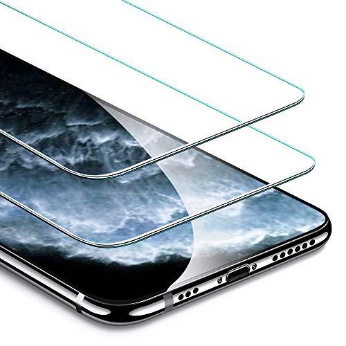 ESR Panzerglasfolie kompatibel mit iPhone 11 Pro/XS/X [2 Stück] Panzerglas [Face-ID kompatibel] [Hüllenfreundlich] - Hochwertiger Display Schutzfolie mit Montagerahmen für iPhone 11 Pro/XS/X (2019)