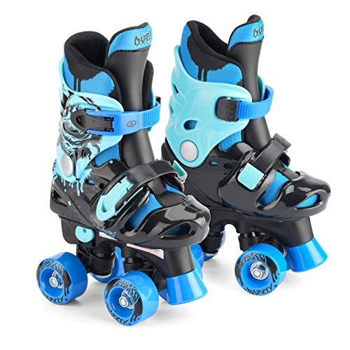 Osprey Quad Skates für Jungen, Verstellbare Rollschuhe, Electric Blue, 32-36