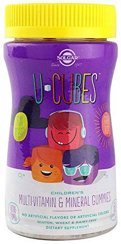 Solgar U-Cubes, Children's Multi-Vitamin & Mineral, 60 Gummies (Multivitamin Multi-mineral-ergänzung)