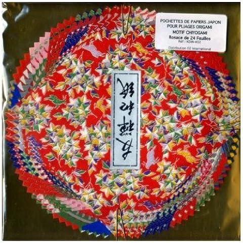 Washi Chiyogami carta per origami 15cm x 15cm, (Washi Chiyogami Carta)