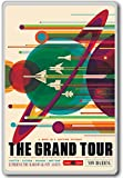The Grand Tour (Jupiter, Saturn, Uranus, Neptune) - NASA Vintage Space Travel - Visions of the Future - fridge magnet - Kühlschrankmagnet