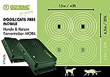 ISOTRONIC Katzenabwehr Katzenvertreiber Hundevertreiber Hundeabwehr Tiervertreiber 2er Set gegen Katzen Hunde Hundeschreck Ultraschall Katzenschreck batteriebetrieben mobil einsetzbar