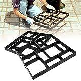 FURU Pflastersteine Brick Path Maker Backform, Garde DIY Kunststoff Gehwegplatten Beton Form Garten Rasen Pathmate Stein Form Walk Maker Form 10Raster