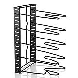 Soporte para 5 bandejas Rack Pot Tapa Organizador Estante de almacenamiento de pie Utensilios de cocina, Versatile Tier Frying Pan Organizer Rack