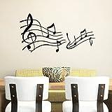 "asenart estilo western extraíble pared vinilo adhesivo Música Notas adhesivo de pared decoración del hogar Tamaño 22""* 24"""