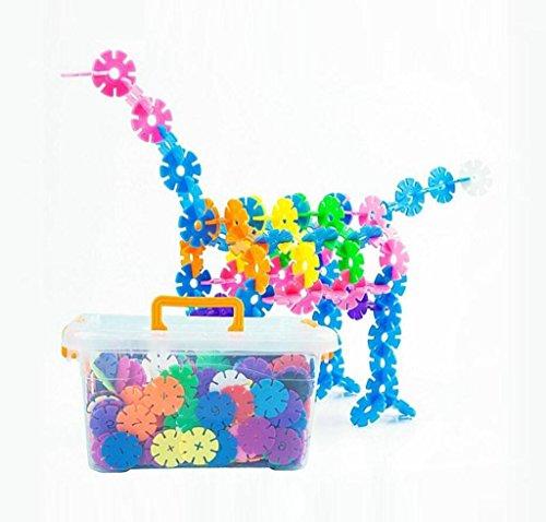 Große dicke Schneeflocke Stücke zusammengebaut in die Bausteine frühen Kindheit Bildung Baby Baby Puzzle frühen Kindheit Bildung Spielzeug