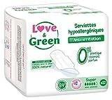 Love & Green Serviettes Hypoallergéniques Super 0%