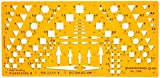 Katasterschablone Planzeichnen Architekt Schablone Zeichenschablone - Innenarchitektur Technisches Zeichnen kleines Dreieck Kreis Quadrat Symbole
