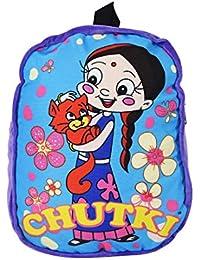 Chhota Bheem Chutki with Bear Velvet School Backpack, Purple (8.35L)