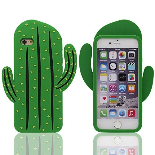 """Coque Case Pour iPhone 7 4.7"""" ( Vert ), Cactus Apparence, étui de protection Haute qualitie Silicone Confortable Doux au Toucher Dessin Animé Animal Style Vert"""