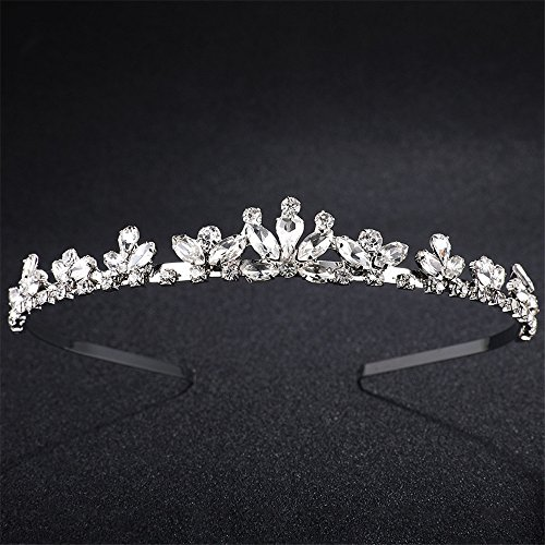 Weddwith Kopfschmuck Haar-Styling Zubehör Strass Braut Krone geformt Glas Diamant Braut Kopfschmuck Europäische Hochzeit Kopfschmuck