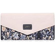 Damara Elegant Blume Muster Frisch Fashion Süß Elegant Damen Portemonnaie Geldbörse
