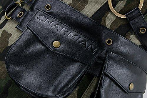 Charmian Women's Steampunk Spiral Steel Boned Vintage Retro Corset Tops Bustier Camouflage