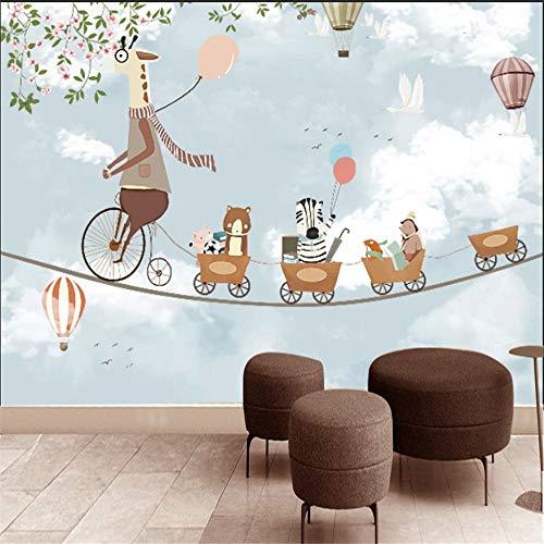 Wandsticker Wandtattoo Wanddekorationcartoon Giraffe Tier Wand Papier Kinderzimmer Wohnkultur Tapeten Kinder Papel Parede 3D Selbstklebende Vinyl/Seidentapete, 400 * 280 Cm