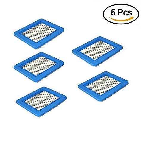 Vipith 5-pack Marché de remplacement filtre à air pour Briggs & Stratton 491588491588s 4915885399959John Deere Pt15853Oregon 30–710Plat cartouche de filtre à air