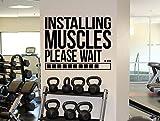 Gym Motivational Zitat Wand Aufkleber Installation Muskeln Vinyl Aufkleber Fitness Art Wand Sport Decor 12(Goal Question Metric)