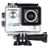 Andoer 4K 30FPS 1080P 60FPS Full HD DV 2.0in LTPS LCD Pantalla WIFI Wifi Impermeable 170 ° Gran Angular Acción Cámara Deportiva Videocámara DVR Coche