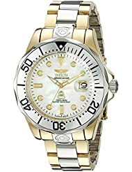 Invicta Men's 47mm Automatic Gold Steel Bracelet & Case Date Watch 16035