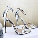 Damen - Sandalen Sandalen Sandalen, High Heels, Zehen, Sandalen, Große Sandalen,die Silbernen,38