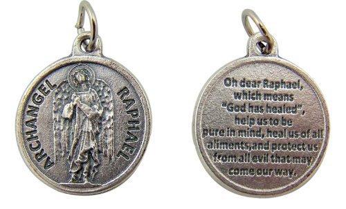 katholischen Andenken und Geschenk 3/4-Zoll Dia Saint St. Raphael Erzengel mit Gebet PROECTION Medaille Anhänger Charme Von Religiöse Geschenke -