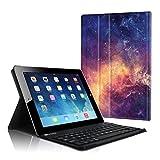 Fintie Tastatur Hülle für iPad 2 / iPad 3 / iPad 4 - Ultradünn leicht SlimShell Ständer Schutzhülle Keyboard Case mit magnetisch Abnehmbarer drahtloser Deutscher Bluetooth Tastatur, Die Galaxie