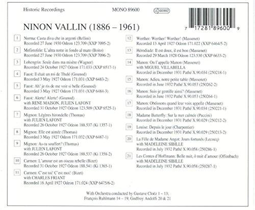 Ninon Vallin : Historic Recordings