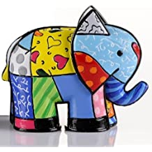 ROMERO BRITTO Mini Figur - Elefant India - Pop Art Kunst aus Miami
