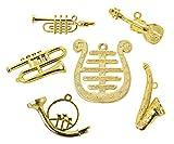 Kimmerle Musikinstrumente-Set, Miniaturen, 6tlg., Maße von ca. 1,5 - 4,5 cm
