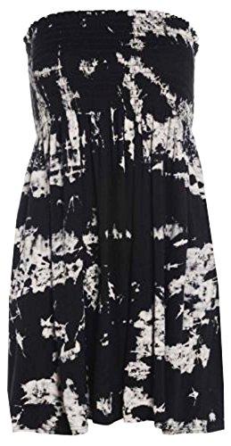 Fashion moins 4 pour femme Imprimé Sheering Plus longue bustier robe Haut débardeur 20 22 - Tiedie