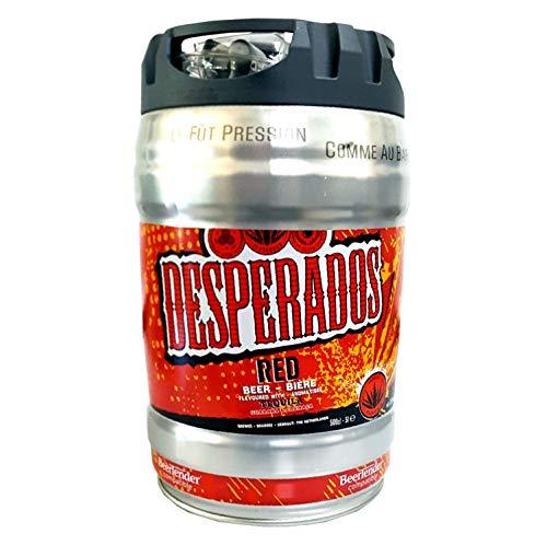 Desperados red Bier mit Tequila, Guarana, Cachaca, Partyfass 5 Liter Fass inkl. Zapfhahn 5,9{119b14c16e115077177cd5edeab4513ffe597c26bcee5f1013589f3251b55b19} vol.