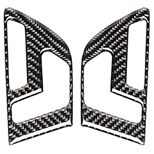 Noblik Kohle Faser Auto Tür Tasten Sitz Verstellung Panel Abdeckung Trim 2 Stücke Für Mercedes Gla X156 Cla C117 A B Klasse 2011-2018 Rex Trim