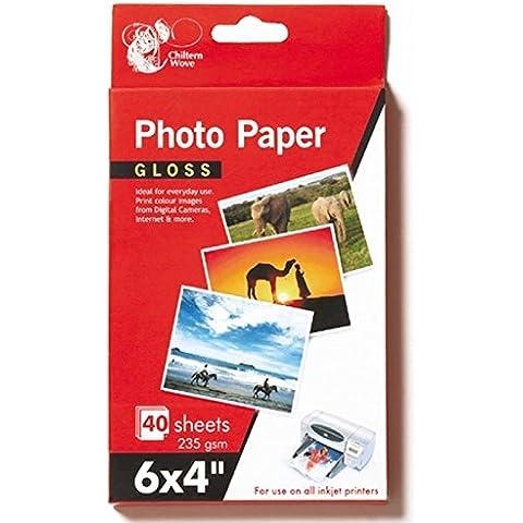 80hojas papel fotográfico brillante 6x 4