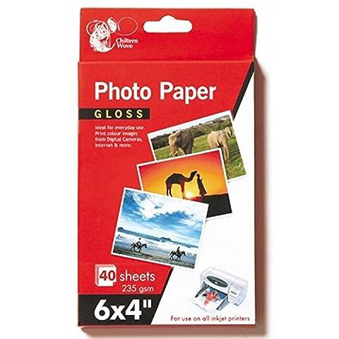 80feuilles papier photo brillant 15,2x 10,2cm 235g/m²/Lot de 2paquets de