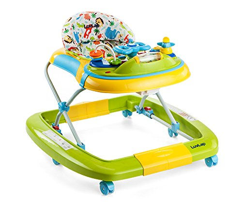 LuvLap Grand Baby Walker with Adjustable Height & Rocker - Green