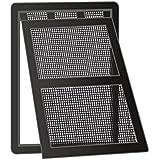Windhager Katzenklappe mit Easy Clip Montage, für Insektenschutz Türrahmen in schwarz