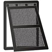 Windhager 03333, Windhager Katzenklappe Katzentür Haustierklappe mit Easy Clip Montage, für Insektenschutz Türrahmen, schwarz, verriegelbar, 20 x 25 cm 03333