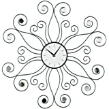 Premier Housewares Symbia Wall Clock with Clear Diamante