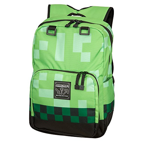 Jinx Minecraft Backpack Valigia per bambini 44 centimeters Verde (Green)