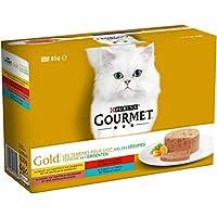 Gourmet Gold Les Terrines aux Légumes Multivariétés - 12 x 85 g - Boîtes pour Chat Adulte - Lot de 8