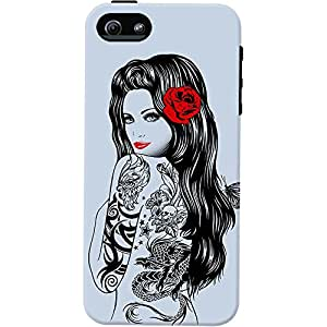DailyObjects Tattoo Girl Tough Mobile Case For Iphone 5/5S