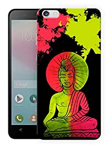 """Humor Gang Buddha Neon Art Trippy Printed Designer Mobile Back Cover For """"Huawei Honor 4X"""" (3D, Matte Finish, Premium Quality, Protective Snap On Slim Hard Phone Case, Multi Color)"""