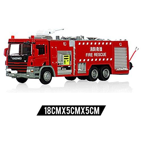 ielzeug Feuer-Maschine 1:50 Skala-Wasser-Feuer-Motor-LKW-Legierungs-Druckguss-Modell-Legierungs-Auto-Modell Kinderspielzeug-Auto-Löschfahrzeug-Modell-Auto-Modell Frühe Erziehung ()
