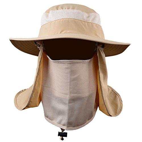 Forart Outdoor UPF50 + Mesh Sonnenhut Wide Brim Fishing Hat mit Neck Flap - Outdoor Sonnenschutz Wind Flap