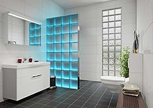 Glasbausteine Dusche Led