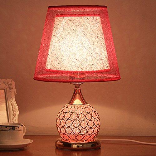 CLG-FLY Lampada tavolo lampada lampada da comodino camera da letto lusso europeo moderno matrimonio creativo dolce camera da letto arredamento lampada da tavolo
