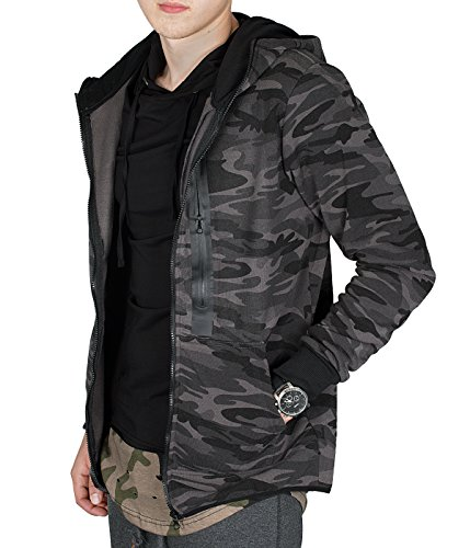 BetterStylz WhitefishBZ Herren Regular Fit Kapuzen Jacke Zip Übergangsjacke Hooded Camouflage in 2 Farben (S-XL) - 2